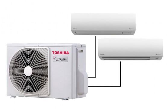 Инверторна мултисистема Toshiba RAS-2M18S3AV-E с 2 вътрешни тела