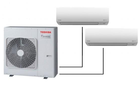 Инверторна мултисистема Toshiba RAS-3M26S3AV-E с 2 вътрешни тела