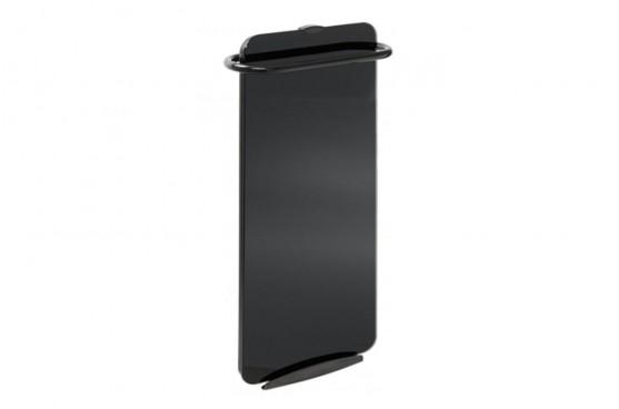 Стъклен лъчист радиатор за баня Campaver bains 1000W черен антрацит