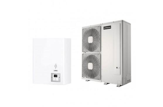 Термопомпа Hitachi Yutaki S RWM-10.0NE/RAS-10WHNPE, 24 kW, отопление, охлаждане и БГВ