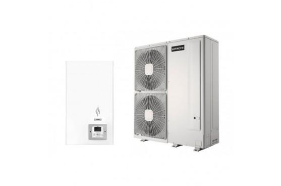 Термопомпа Hitachi Yutaki S RWM-5.0NE/RAS-5WHNPE, 14 kW, отопление, охлаждане и БГВ