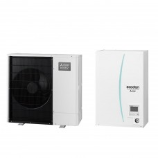 Термопомпа Mitsubishi Electric ERSC-VM2D/PUHZ-SW75VAA, 8 kW, отопление, охлаждане и БГВ