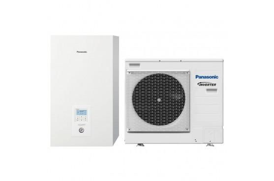 Термопомпа Panasonic Aquarea WH-SDC07H3E5-1/WH-UD07HE5-1, 7 kW, отопление, охлаждане и БГВ