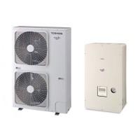 Термопомпа Toshiba Estia HWS-P1104XWHT6-E/HWS-P1104HR-E, 18 kW, отопление, охлаждане и БГВ