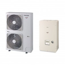 Термопомпа Toshiba Estia HWS-P804XWHT9-E/HWS-P804HR-E, 15 kW, отопление, охлаждане и БГВ